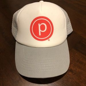 Pure Barre Grey/White Circle P Trucker Hat